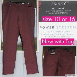 NWT Simply vera power stretch skinny jean w/stripe